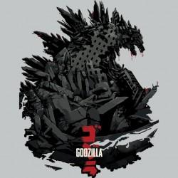 Godzilla 2014 art work t-shirt gray sublimation