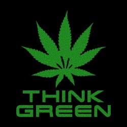 Think Green T-Shirt black sublimation