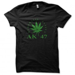 Tee Shirt AK 47 feuille de cana   sublimation