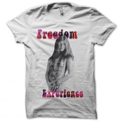 Janis Joplin Freedom Experience white sublimation t-shirt