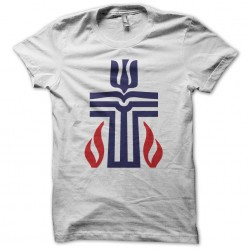 Presbyterian Church white sublimation t-shirt