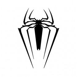 T-shirt spider man symbol white sublimation