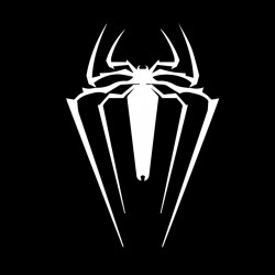 T-shirt spider man symbol black sublimation