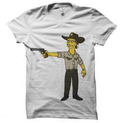 Tee shirt  walking dead simpson  sublimation