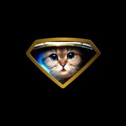 T-shirt Super Astro Cat black sublimation