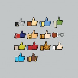 Like Facebook Wall of geek gray sublimation t-shirt