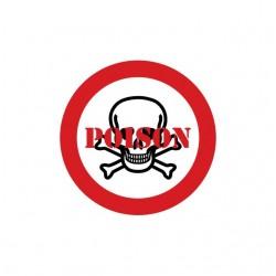 Tee shirt Poison panneau danger  sublimation
