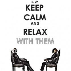 Keep calm daft punk white...