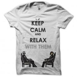 Keep calm daft punk white sublimation t-shirt