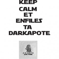 tee shirt keep calm and put on your darkapote white sublimation