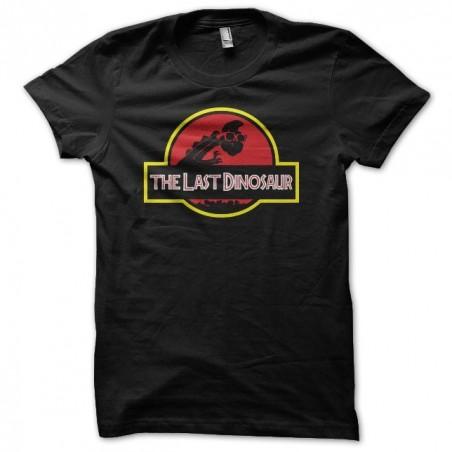 Denver the Last Dinosaur parody Jurassic Park black sublimation t-shirt