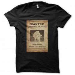 t-shirt serge le lama noir...