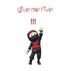 White clumsy the ninja give...