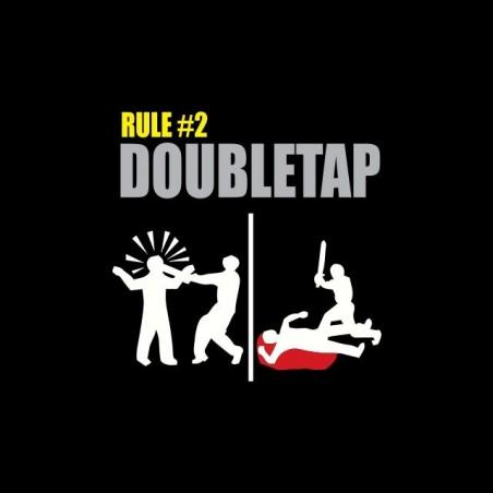 Welcome to Zombiland Rule No. 2 Doubletap black sublimation t-shirt