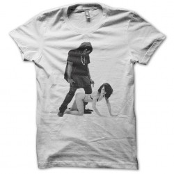 Lady gaga R kelly t-shirt in white sublimation