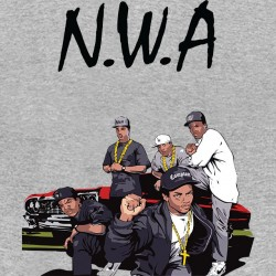 NWA gray sublimation t-shirt
