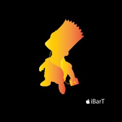 T-shirt bart simpson parody color black sublimation