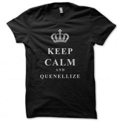 Tee Shirt Keep Calm & Quenellize black sublimation