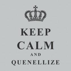 Tee Shirt Keep Calm & Quenellize Gris sublimation