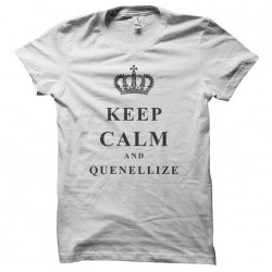 Tee Shirt Keep Calm & Quenellize white sublimation