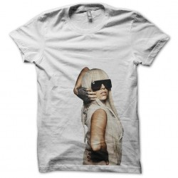 Lady gaga t-shirt in white...