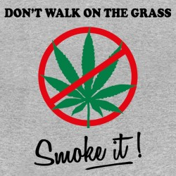 Tee shirt Don't Walk On The Grass, Smoke sublimation