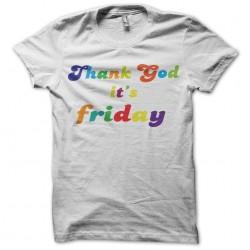 Tee shirt thank god it's...