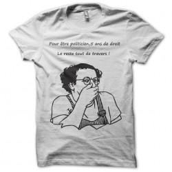 t-shirt coluche in white...