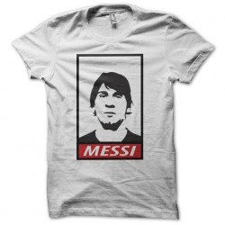 T-shirt lionel messi parody obey in white sublimation