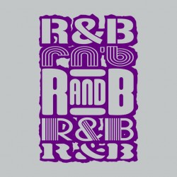 T-Shirt RnB Purple Gray...