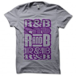 T-Shirt RnB Purple Gray Sublimation