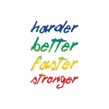 Daft Punk Harder T-Shirt Better Faster Stronger white sublimation