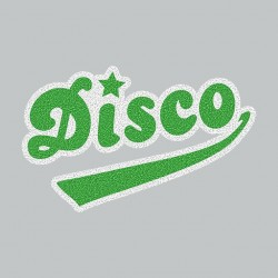 Disco T-Shirt Green on Gray...
