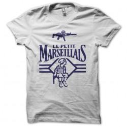 tee shirt le ptit marseillais avec son gun  sublimation