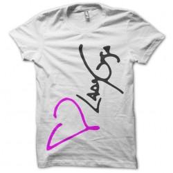 Tee Shirt Lady Gaga Signature White sublimation