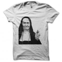shirt tobacco and white nun...