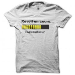 tee shirt réveil en cours...