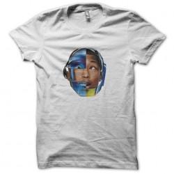 tee shirt pharrell williams daft punk album girl in white sublimation