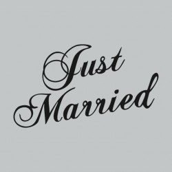 Tee Shirt Just Married Gris...