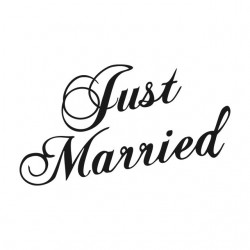 Just Married White Sublimation Tee Shirt