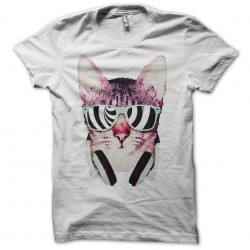 tee shirt cat rapper white...