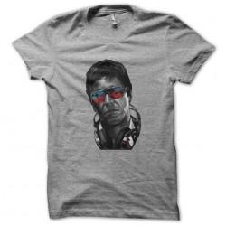 tee shirt tony montana fashion en gris sublimation