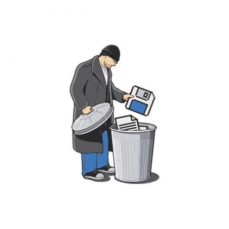Floppy to Trash t-shirt Mac OS Classic white sublimation
