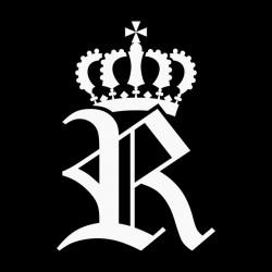 T-Shirt Royal R White black...