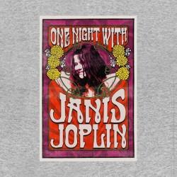 tee shirt janis joplin gris sublimation