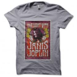 tee shirt janis joplin gris...