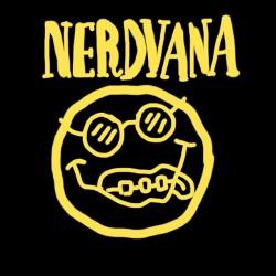 black sublimation nerdvana t-shirt
