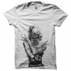 marilyn monroe t-shirt in west coast white sublimation