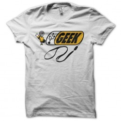 T-shirt Geek parody Bic white sublimation