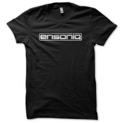 Ensoniq Tee Shirt white on black sublimation